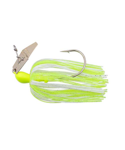 10.5g Original ChatterBait - Chartreuse / White / Gold Blade